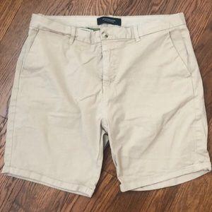 Scotch and Soda men's khaki shorts size 34w cuffed